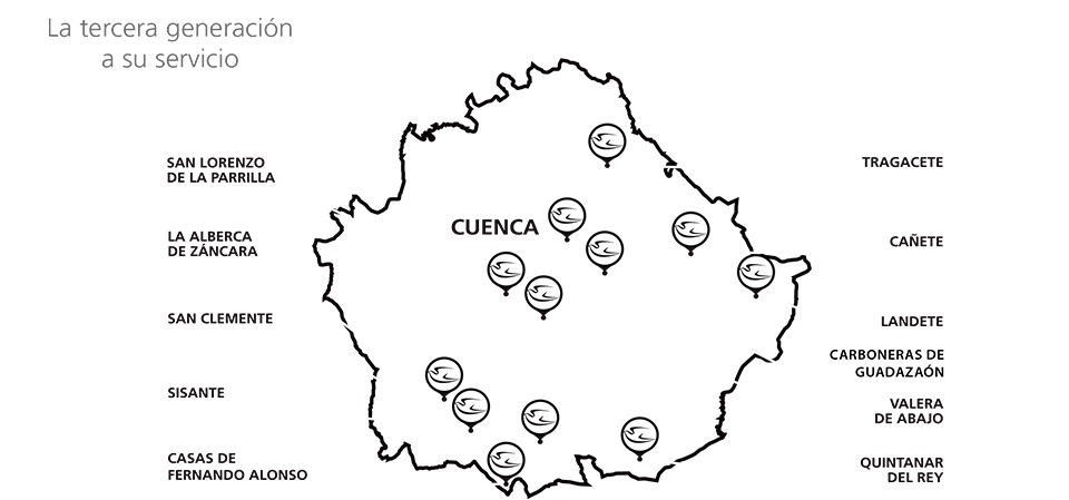Mapa de sucursales | Grupo Alborada Servicios Funerarios