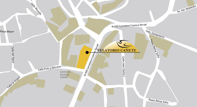 Localización de servicios funerarios en Cañete